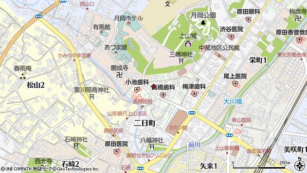 山形県上山市沢丁6周辺の地図