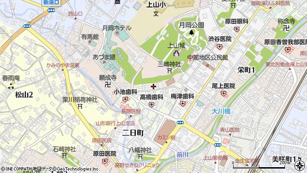 山形県上山市沢丁5周辺の地図
