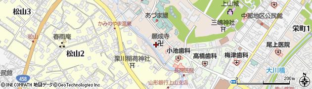 山形県上山市新湯2周辺の地図