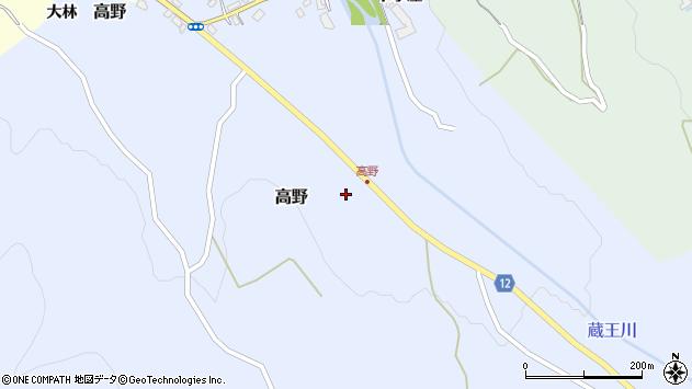 山形県上山市高野高野原49周辺の地図