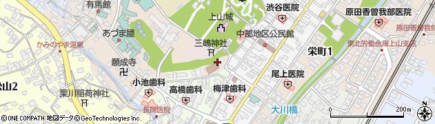 山形県上山市元城内1周辺の地図