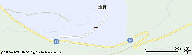 山形県上山市高野塩坪43周辺の地図