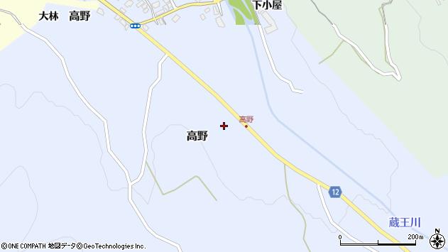 山形県上山市高野高野原51周辺の地図