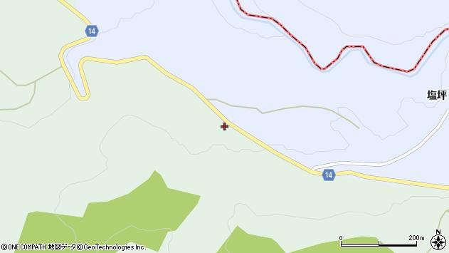 山形県上山市小倉塩坪周辺の地図