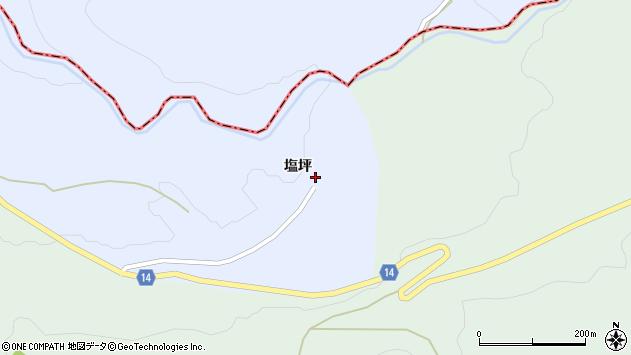 山形県上山市高野塩坪2周辺の地図