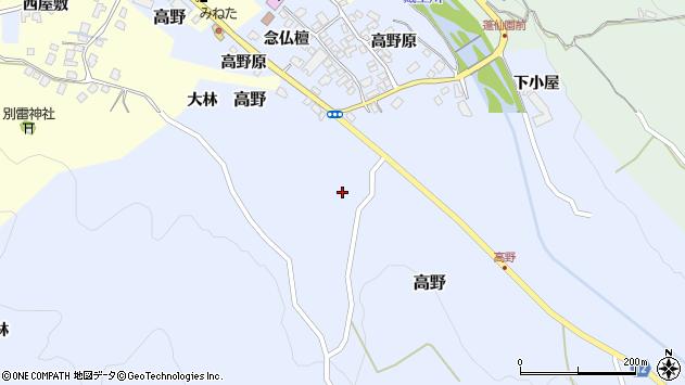 山形県上山市高野高野原283周辺の地図