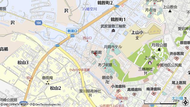 山形県上山市新湯6周辺の地図