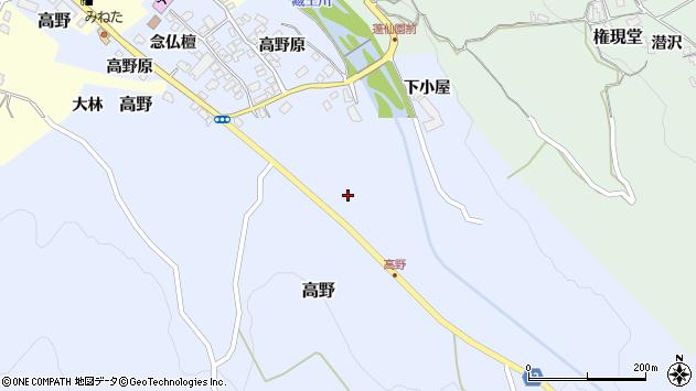 山形県上山市高野144周辺の地図