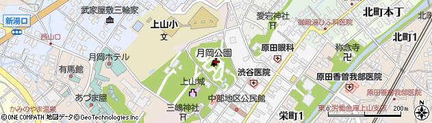 山形県上山市元城内4周辺の地図