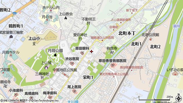 山形県上山市十日町10周辺の地図