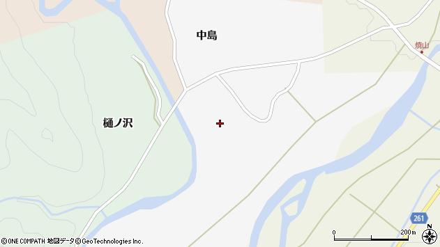 山形県西置賜郡小国町中島周辺の地図