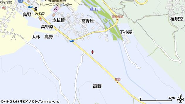 山形県上山市高野高野原84周辺の地図