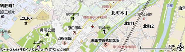 山形県上山市新丁1周辺の地図