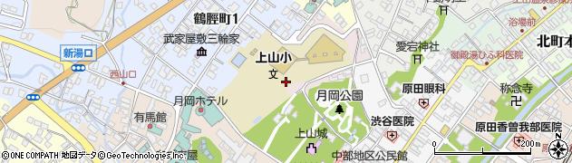 山形県上山市元城内周辺の地図