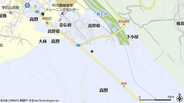 山形県上山市高野高野原97周辺の地図