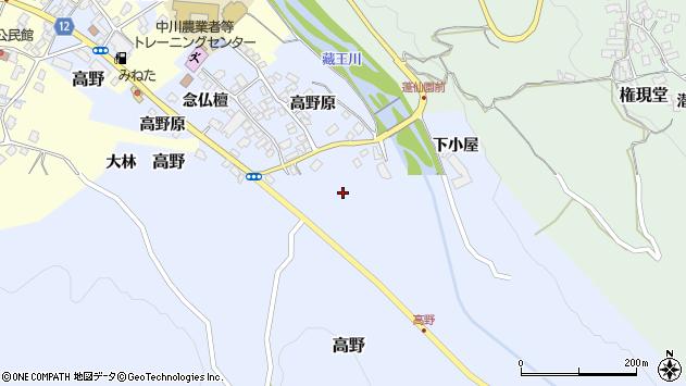 山形県上山市高野高野原126周辺の地図