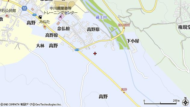 山形県上山市高野高野原98周辺の地図