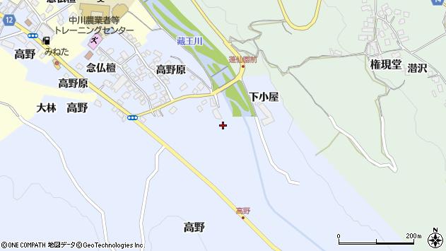 山形県上山市高野高野原124周辺の地図