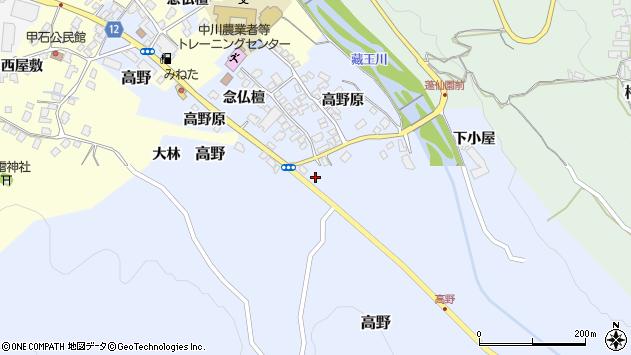 山形県上山市高野高野原393周辺の地図