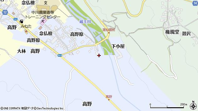 山形県上山市高野高野原123周辺の地図