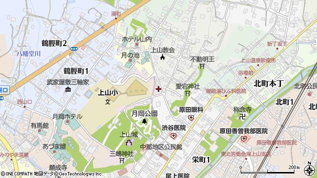 山形県上山市元城内7周辺の地図