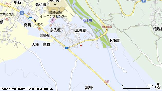 山形県上山市高野高野原101周辺の地図