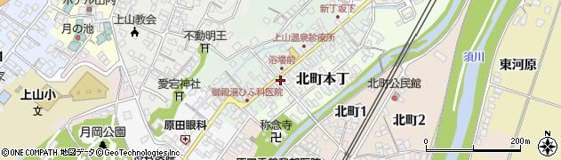 山形県上山市新丁5周辺の地図