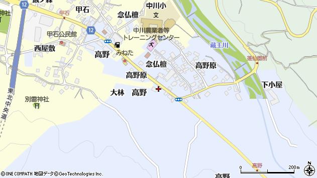 山形県上山市高野高野原320周辺の地図