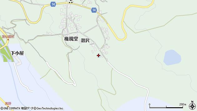 山形県上山市権現堂42周辺の地図