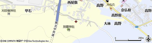 山形県上山市金谷甲石465周辺の地図