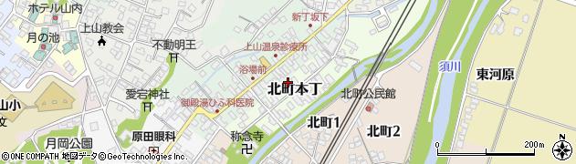 山形県上山市北町本丁3周辺の地図