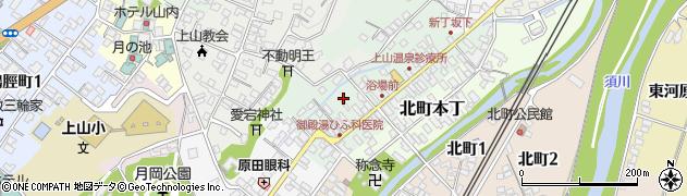 山形県上山市新丁3周辺の地図