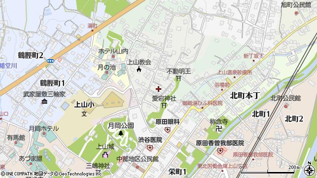 山形県上山市御井戸丁1周辺の地図