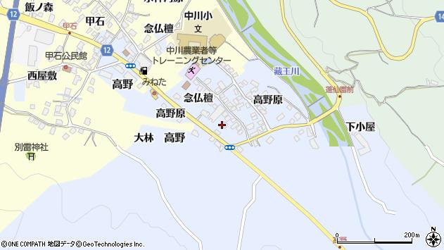 山形県上山市高野89周辺の地図