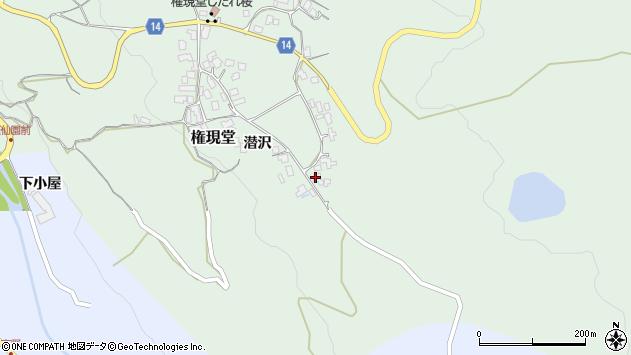 山形県上山市権現堂41周辺の地図