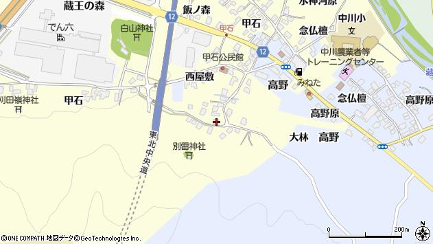 山形県上山市金谷甲石462周辺の地図