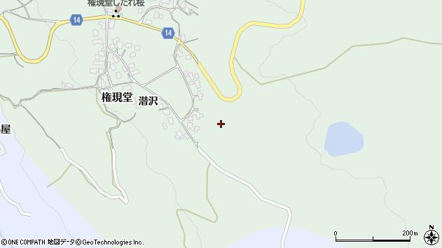 山形県上山市権現堂833周辺の地図