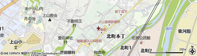 山形県上山市新丁7周辺の地図