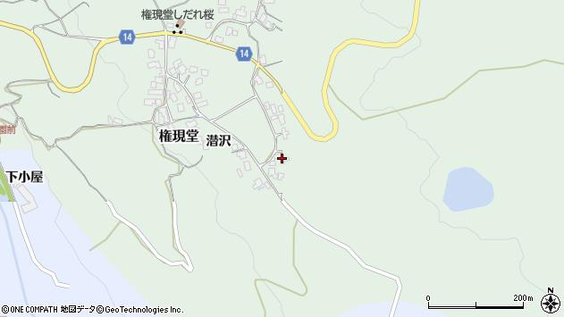 山形県上山市権現堂47周辺の地図