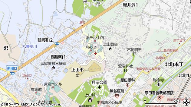 山形県上山市湯町2周辺の地図