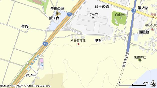 山形県上山市金谷26周辺の地図