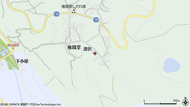 山形県上山市権現堂36周辺の地図
