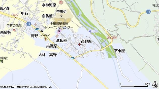山形県上山市高野高野原106周辺の地図