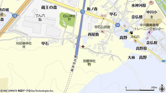 山形県上山市金谷甲石452周辺の地図