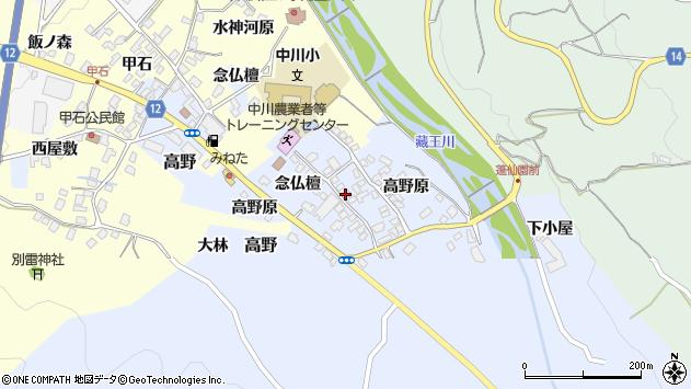 山形県上山市高野高野原107周辺の地図