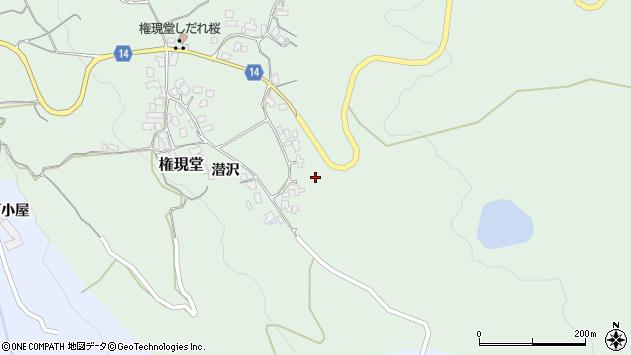 山形県上山市権現堂48周辺の地図