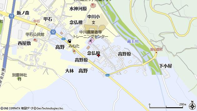 山形県上山市高野念仏檀85周辺の地図