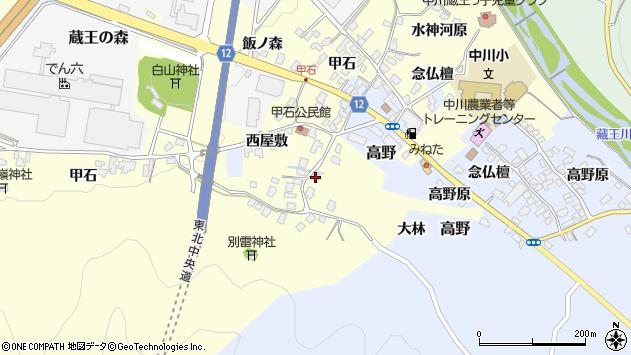 山形県上山市金谷甲石473周辺の地図