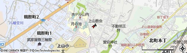 山形県上山市御井戸丁3周辺の地図
