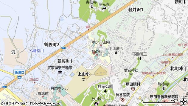山形県上山市湯町3周辺の地図